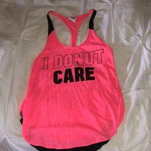 PINK Victoria's Secret I donut care tank top